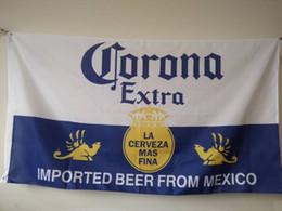 Corona Extra Beer Flag 90 x 150 cm Bar decorazione in poliestere Banner da