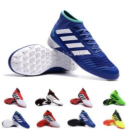 2019 zapatos de fútbol de corte alto Comfort V SX Neymar Calzado de fútbol para hombres Predator 18 + x Pogba FG Accelerator DB Niños Hombres Mercurial Superfly FG Calzas de fútbol Real Madrid