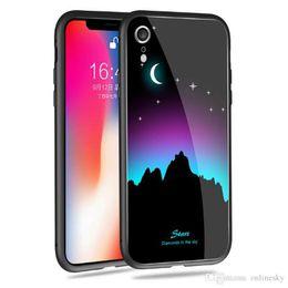 Schönes designtelefon online-Beautiful Design leuchtenden Telefon Fall für Iphone X XS XR MAX Full Coverage Handy Fällen Nachtlicht Fashion Phone Back Cover Fällen