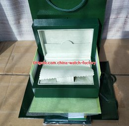Wholesale quality leather handbags - Luxury High Quality Green Watch Original Box Papers Card Purse Boxes Handbag 0.8KG For Sea-Dweller 126600 116610 116500 116710 Watches