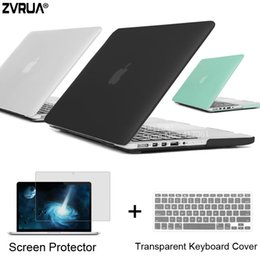 Wholesale 15 Laptop Screens - ZVRUA Best Laptop Case For MacBook 13 15 inch Pro with Retina A1502 A1398   CD ROM A1278 A1286 + Keyboard Cover+Screen Protector