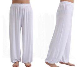 Pantalon d'arts martiaux en Ligne-Arts Martiaux Tai Chi Pantalon De Yoga Acrobaties Pantalons Kung Fu Pantalons Cropped Courant Britches Hommes Femmes