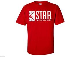 Stella rossa lampeggiante online-Star Laboratories S.T.A.R Lab Flash DC Comics Serie TV Mens T Shirt Rosso