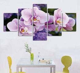 Livraison Gratuite Peinture À L'huile Mur Art Rose Orchidée Fleurs Côté De La Mer Décoration Abstrait Paysage Sur Toile Sans Cadre ? partir de fabricateur