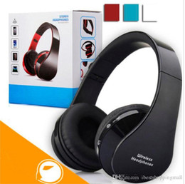 Wholesale Dj Mixed - nx-8252 Foldable DJ Wireless Headphone Hi-fi Stereo Earphone Noise Cancelling Headset With Mic For Smart Phones With Retail Box