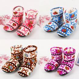 2019 niña zapatillas de navidad Zapatos de invierno más nuevos Mujer Zapatillas de casa Chicas Navidad Zapatos de interior Cálido Zapatilla de algodón suave Felpa Pantufa rebajas niña zapatillas de navidad
