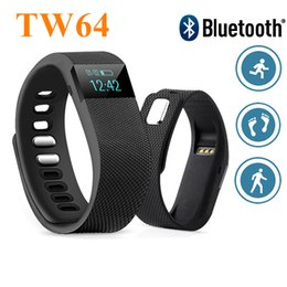 Wholesale Calorie Counter Tracker - TW64 Smart Watch Bluetooth Watch Bracelet Smart band Calorie Counter Pedometer Sport Activity Tracker For iPhone Samsung Android IOS
