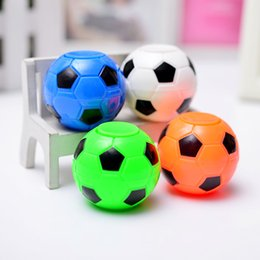 Wholesale hand gyro - Finger Football Spinner Soccer Toys Hand Top Gyro Anti-stress Fun Toys 2018 FIFA World Cup Gifts Colorful Ball Tuoluo