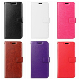 Wholesale crazy horses - Leather Wallet Case For Moto G6 Plus Play For One Plus 6 For LG G7 Stylo 4 K10 K8 2018 Retro Vintage Crazy Horse Flip Cover ID Card Slot
