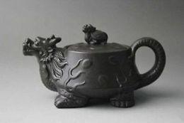 Жемчужная глина онлайн-Китайский Исин фиолетовый глины чайник Zhini Черепаха Дракон циша чайник