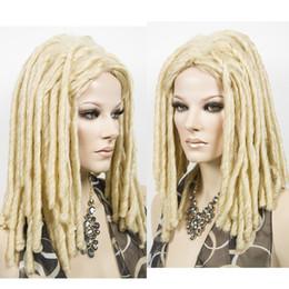 rastas tejen pelo Rebajas Dreadlocks African Fashion Wig Long Weave Locks Cabello Cosplay Disfraz rubia WigFree envío peluca