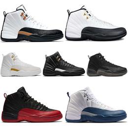 finest selection 3c416 981b4 Nike Air Jordan Retro Rabatt Taxi 12 12s Männer Basketball Schuhe CNY Weiß  Schwarz Grippe Spiel Die Master Gamma Französisch Blau Playoffs Sport  Turnschuhe ...