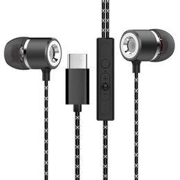 Le teléfono online-Auriculares de teléfono móvil L2 tipo-c hub Le 2pro X900 auriculares de control remoto con auriculares intrauditivos de metal trigo