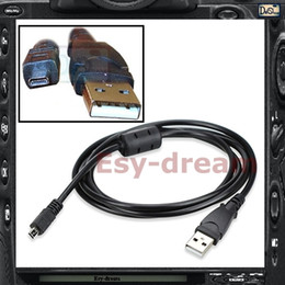 кабель usb uc e6 Скидка Камера USB-кабель для передачи данных для Nikon Coolpix S2600 S2500 S3000 S3200 S4300 S6100 M50 WPI X70 E20 K10D K20D I-USB7 UC-E6 CB-USB7