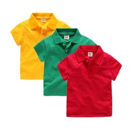 2-6T Garçons Filles Polos Polos d'été Chemises à manches courtes T-shirts Couleur unie Vêtements pour enfants Polo Shirt Vêtements pour enfants ? partir de fabricateur