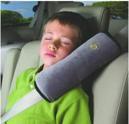 Wholesale Vehicle Belts - Baby Auto Pillow Car Covers Safety Belt Shoulder Pad Cover Vehicle Baby Car Seat Belt Cushion for Kids Shoulder Sleep Pillow KKA4370