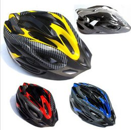 Wholesale Bike Bicycle Helmet White - Carbon fiber texture split mountain bike riding helmet equipped bicycle helmet