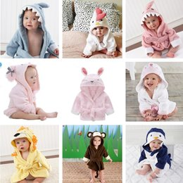 Wholesale Wholesale Kids Bathrobes - Baby Bathrobe Charactor Soft Warm Baby Boys Girls Kids Bathrobe Bath Towel Cartoon Animal Hooded Sleepwear Pajamas Clothing Wholesale 856
