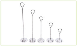 Wholesale Place Card Stands - Stainless Steel Table Number Holders Place Card Stands Tag Label Clip Wedding Party Decoration 10 15 20 25 30cm Tall ZA5916