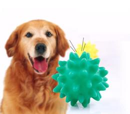Морские собаки онлайн-Красочные Собака Звучание Игрушки Морской Еж Собака Молярный Зуб Мяч Щенок Жует Игрушка С Мягким Шипом