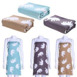 Wholesale Newborn Baths - Pure Cotton Soft Warm Baby Bath Towel Newborn Blanket Large Size for Adult Children Cartoon Elephant Print Swim Quilt