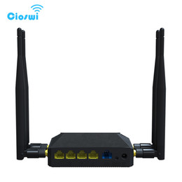 2019 tarjeta del sim del ranurador del módem sin hilos Cioswi Router 3G 4G Módem WiFi con ranura para tarjeta SIM 1200 Mbps 128MB Memoria 4G LTE Router OpenWrt Wireless Wifi Routers rebajas tarjeta del sim del ranurador del módem sin hilos