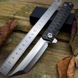 Canada En gros Haute Qualité D2 Acier Pliant Lame Couteau De Poche Survie Couteau Tactique Couteau Stonewash Manche En Acier Camping Chasse Couteaux pour Cadeau Offre