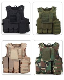 Wholesale Armor Vests - Tactical Vest Wargame Body Molle Armor Hunting Vest Waterproof Outdoor Jungle Equipment Camouflage Battle Vest LJJD18