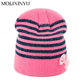 482275523ac MOLIXINYU 2018 Fashion Baby Cotton Bow Hat 1-3Y Girls Boys Winter Thick Hat  For Baby Beanies Cap Infant Toddler Shipping