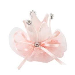 Cabelo acessórios bebê meninas china on-line-Meninas acessórios para o cabelo criativo tecido baby baby Crown Pin