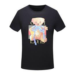 Wholesale Cheap Cotton T Shirts - 2018 New Arrival Top Copy Men's GC Brand T-Shirts Polos O-Neck Cotton Slim Fit Comfortable White Black For Sale Cheap Discount