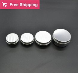 Wholesale Aluminum Jars - 10g 15g 20g 30g 50g refillable empty round aluminum metal tin cans bottle with lids , cosmetic cream container box aluminum jar
