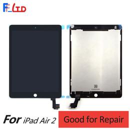 Precios de ipad online-Precio de venta al por mayor para iPad Air 2 iPad 6 Pantalla LCD digitalizador con panel frontal Asamblea completa Envío gratis