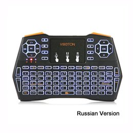Wholesale Dhl Mouse - VIBOTON i8 Plus 2.4G Wireless Keyboard Fly Air Mouse Touchpad Backlight Version For Andriod Google TV Box XBOX360 free DHL