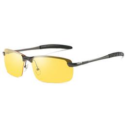 Copos de noite dos pilotos on-line-Condução noturna polarizada óculos de Sol motorista óculos profissionais Homens Mulheres UV400 Shades Piloto Óculos De Sol Masculino Feminino Night Vision Sun Glasses