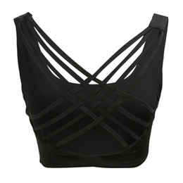 9bf310028b Sexy Yoga Backless Bra Sports Bra Shake Proof Running Workout Gym Top Tank  Fitness Vest Black