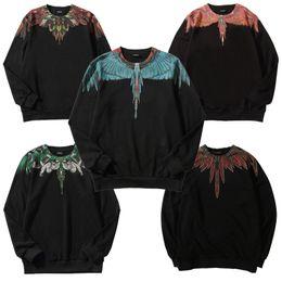 2019 hoodies de plumes Marcelo BURLON Sweat Italie Hommes Femmes plume de paon Marcelo BURLON Sweats à capuche 18 ailes Streetwear Marcelo BURLON Sweat hoodies de plumes pas cher