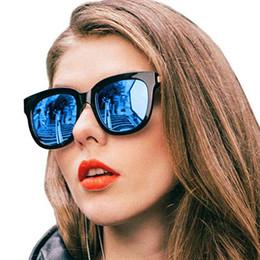 175f29a82b4 Luxury Brand Square Sunglasses Women Korean Fashion Mirror Shades for Female  Oversize Blue Pink Sun Glasses Superstar Eyewear Oculos