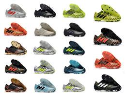 Wholesale ups ground - 2018 New Nemeziz 17+ 360 Agility FG Football Shoes Men Firm Ground Nemeziz Messi 17.1 Football Boots Outdoor Soccer Shoes Cleats