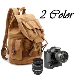 Leinwand slr kamerataschen online-Art- und Weiseleinwand SLR Kamera-Kasten-Rucksack-Rucksack-Beutel-Spielraum-Segeltuch-2 Farben-klassischer Kamera-Rucksack Freies Verschiffen G171S