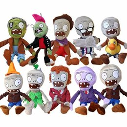 Wholesale Zombies Plush Toys - 10pcs lot 30cm Plants vs Zombies PVZ Zombies Stuffed Plush Toys PVZ Soft Plush Toy Doll Game Figure Statue Toys for Kids Gifts