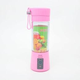 2020 elektrische schröpfende maschinen Auf Lager 380 ml Tragbare Usb Elektrische Entsafter Tasse Flasche Wiederaufladbare Saft Mixer Mixer Obst Mischmaschine Küche Zubehör günstig elektrische schröpfende maschinen