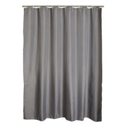 Deutschland Graue Polyester-Badezimmer-wasserdichte Duschvorhänge mit Plastikhaken cheap bathroom plastic curtains Versorgung