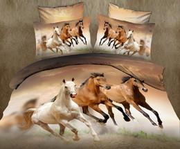 camas cheias venda Desconto Venda quente 3D cavalo animal twin king completo duplo bedclothes colcha fronha capa de edredão set conjunto de cama