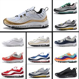 newest 74305 255d2 nike air max 98 Royaume-Uni GMT 98 Chaussures de course pour homme Gundam  Tour jaune-bleu Triple Gym noir Red South Beach Runners respirant air 98  pas cher