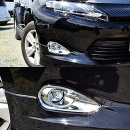 mitsubishi gear Promotion JY Pour TOYOTA HARRIER 2014 Avant Couvercle De Lampe Antibrouillard Garniture ABS Car Styling Accessoires Autocollant
