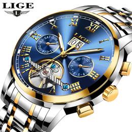 2019 механические часы LIGE мужские часы топ бренд роскошные автоматические механические часы мужчины полный стальной бизнес водонепроницаемый спортивные часы Relogio Masculino D18100709 дешево механические часы