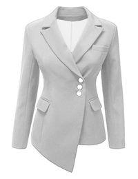 Elegantes chaquetas formales online-2018 chaqueta de mujer chaqueta de traje de oficina femenina elegante traje botón mujer otoño chaqueta de invierno chaqueta formal de corte slim fit