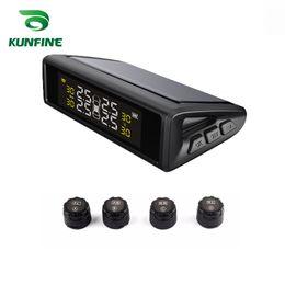 2019 programador de toyota kilometraje Smart Car TPMS Sistema de monitoreo de presión de neumáticos de energía solar con sensor externo Pantalla LCD digital Sistemas de alarma de seguridad automática