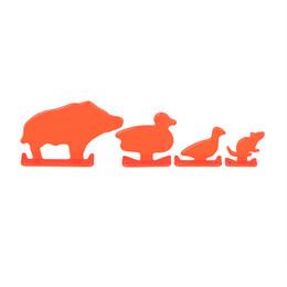 2019 accessori di destinazione Metallo Airsoft Shooting Target Four Animal Style (4 pezzi / pacco) Accessori per Paintball per la pratica di tiro Airsoft CL36-0023 sconti accessori di destinazione